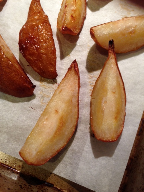 Roasted Bosch pears