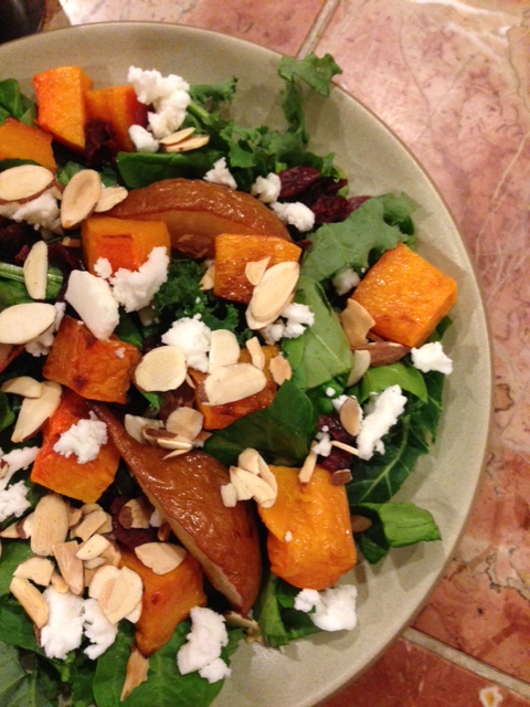 Proof that salads can be fresh and roasted.  Opposites attract!