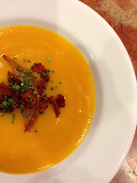 Savory and warming butternut squash soup