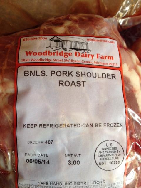 Healthy milk-fed local pork